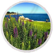 Spring In Pacific Grove Ca Two Round Beach Towel