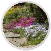 Spring In The Garden Dsc03678 Round Beach Towel