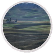 Spring In The Palouse Round Beach Towel