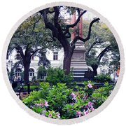 Spring In The Square Round Beach Towel