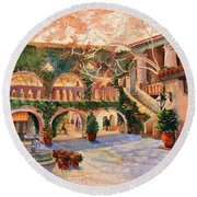 Spring In Tlaquepaque Round Beach Towel