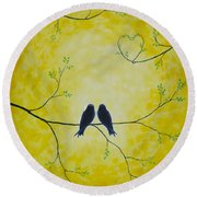 Spring Is A Time Of Love Round Beach Towel
