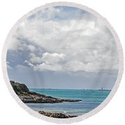 Spring Is Coming Round Beach Towel