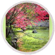 Spring Is In The Air Round Beach Towel