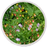 Spring On The Forest Floor Round Beach Towel