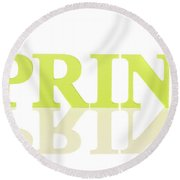 Spring Reflected Round Beach Towel