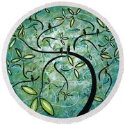 Spring Shine By Madart Round Beach Towel