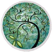 Spring Shine By Madart Round Beach Towel by Megan Duncanson