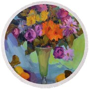 Spring Still Life Round Beach Towel