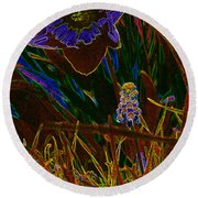 Spring Time In Lillyput Round Beach Towel