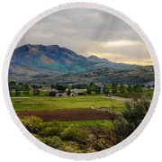 Spring Time In The Valley Round Beach Towel by Robert Bales