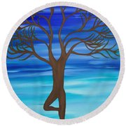 Spring Tree Round Beach Towel