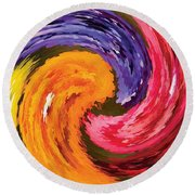Spring Waves Round Beach Towel