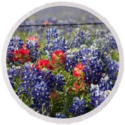 Spring Wildflowers Round Beach Towel