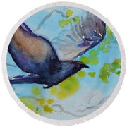 Spring Wings Round Beach Towel