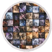 Springs And Squares Round Beach Towel