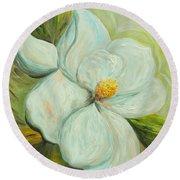 Spring's First Magnolia 2 Round Beach Towel
