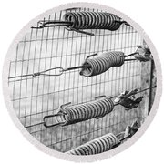 Springs On The Fence Round Beach Towel