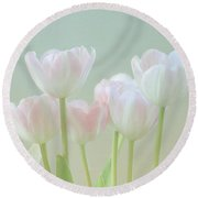 Spring's Pastels Round Beach Towel