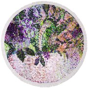 Springtime Basket Round Beach Towel