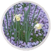 Springtime Beauties Round Beach Towel