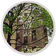 Springtime In Washington Heights 2 Round Beach Towel