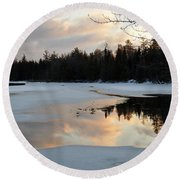 Springtime Reflection Round Beach Towel