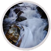 Springtime Waterfall Round Beach Towel