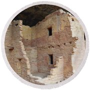 Spruce Tree House Structure Round Beach Towel