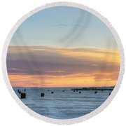 Square Bales Round Beach Towel