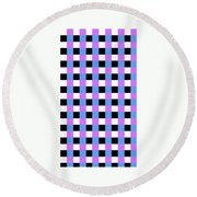 Squares Round Beach Towel