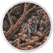 Squirrel-ly Round Beach Towel