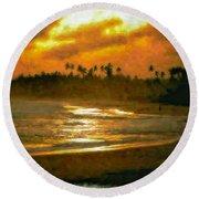 Sri Lanka Round Beach Towel