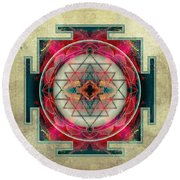 Sri Yantra  Round Beach Towel