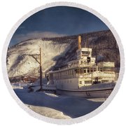 S.s. Keno Sternwheel Paddle Steamer Round Beach Towel