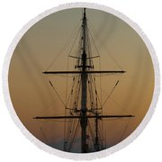 S S V  Corwith Cramer In Key West Round Beach Towel
