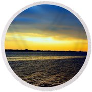 St Andrews Bay Sunset Round Beach Towel