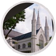 St. Andrews Cathedral Round Beach Towel