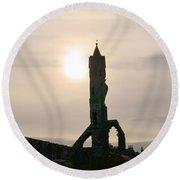 St Andrews Scotland At Dusk Round Beach Towel