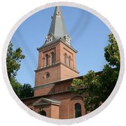 St. Anne's Episcopal Church Round Beach Towel