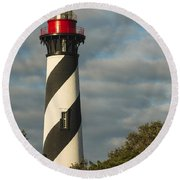St. Augustine Lighthouse 1 Round Beach Towel