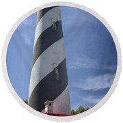 St Augustine Lighthouse Round Beach Towel