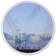St. Augustine Sunset Round Beach Towel
