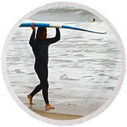 St Augustine Surfer Four Round Beach Towel