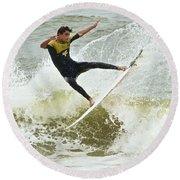 St Augustine Surfer Two Round Beach Towel