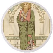 St Bartholomew Round Beach Towel by English School