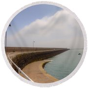 St Catherine's Breakwater - Jersey Round Beach Towel by Joana Kruse