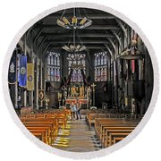 St. Catherine's Of Honfleur Round Beach Towel