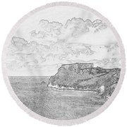 St Catherines Rock Tenby 2 Round Beach Towel