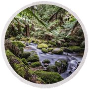 St Columba Falls Round Beach Towel